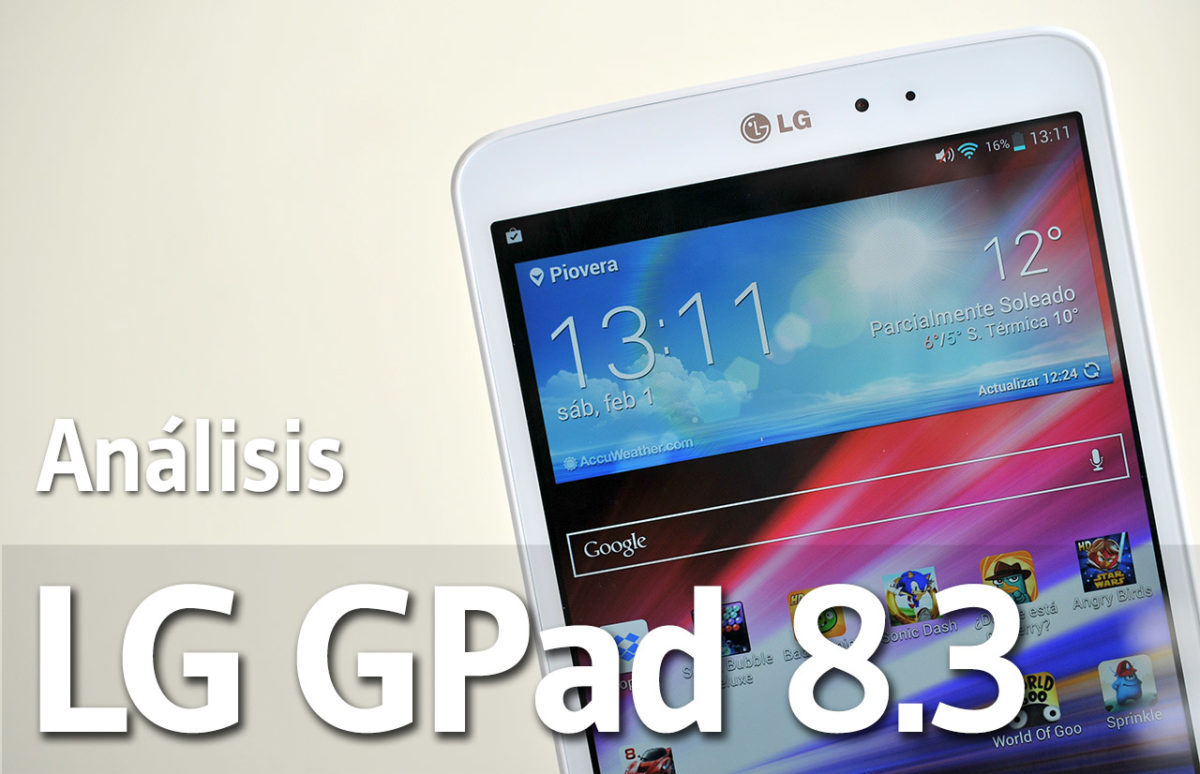 Analisis del LG GPad 8.3