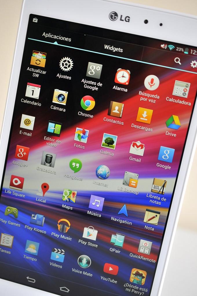 LG GPad 8.3 - Aplicaciones