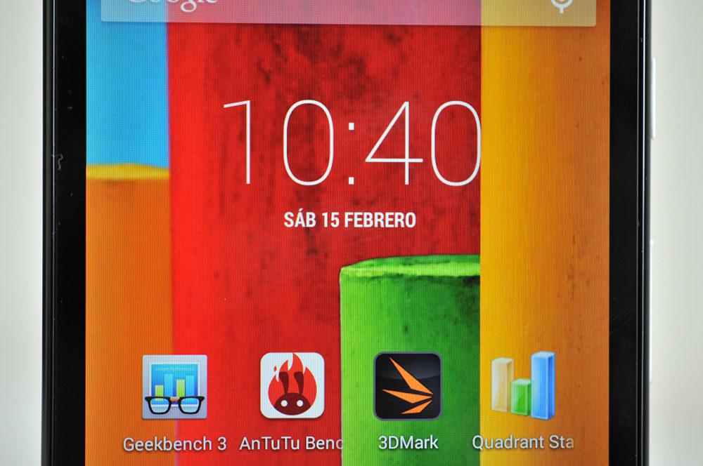 Moto G - pantalla