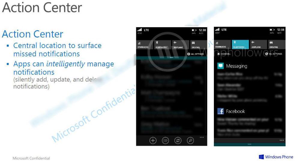 Centro de Notificaciones Windows Phone