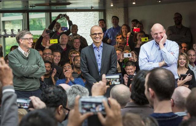 Los 3 CEOs de Microsoft
