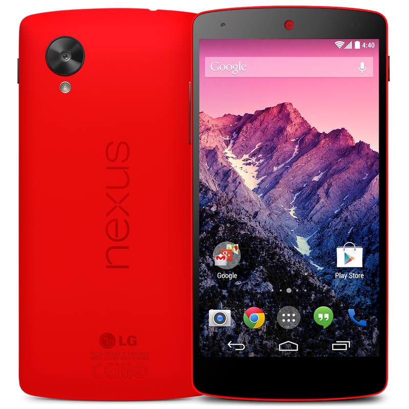 Nexus 5 en color rojo