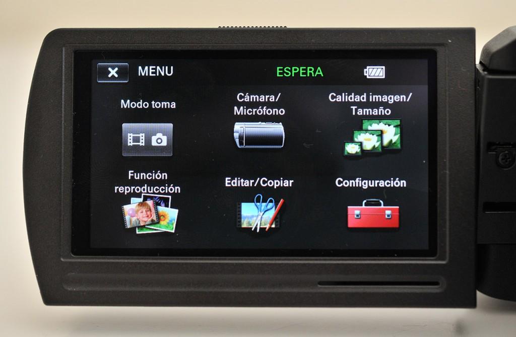 Sony JDR PJ-810E - pantalla