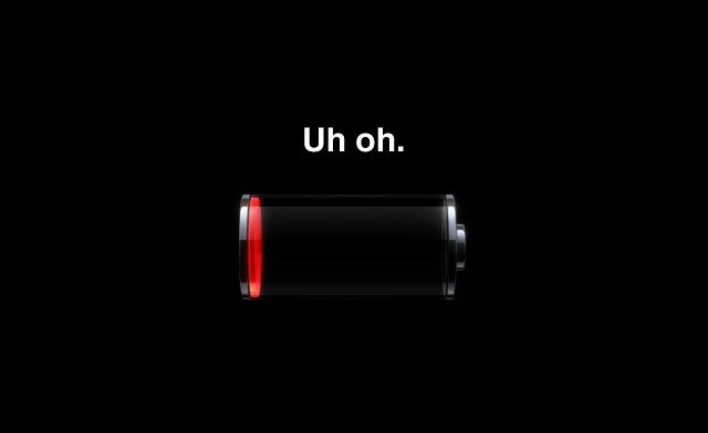 Batería agotada
