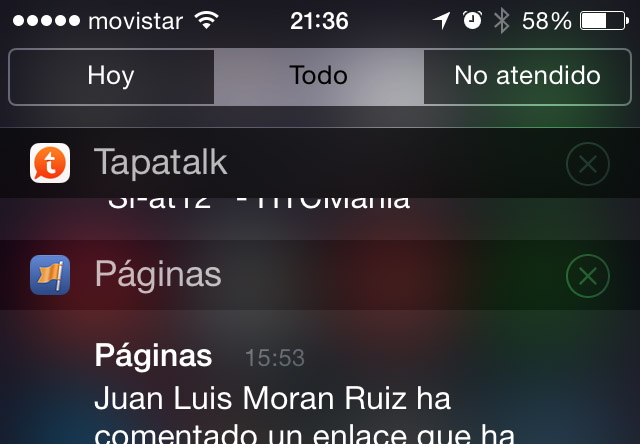 notificaciones iOS 7