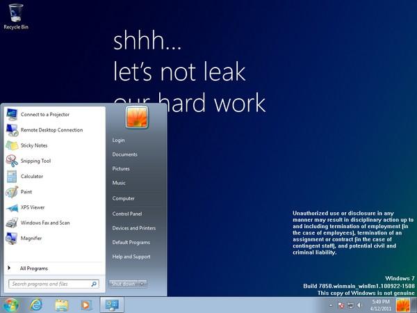 Windows 8 filtrado