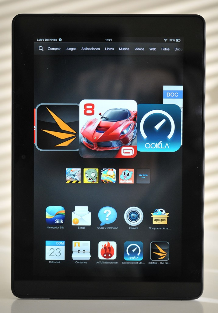 Kindle Fire HDX 89 - Frontal