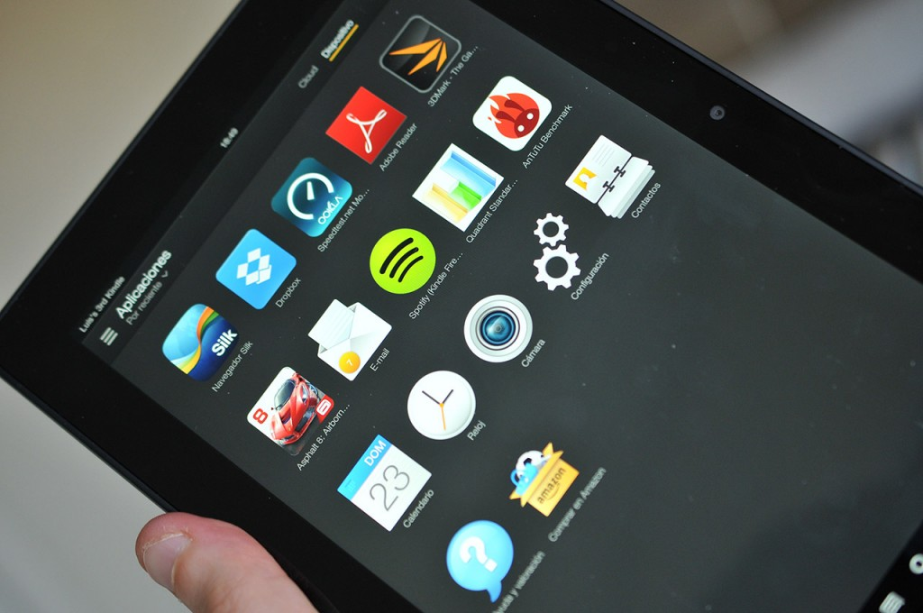 Kindle Fire HDX 89 - Iconos