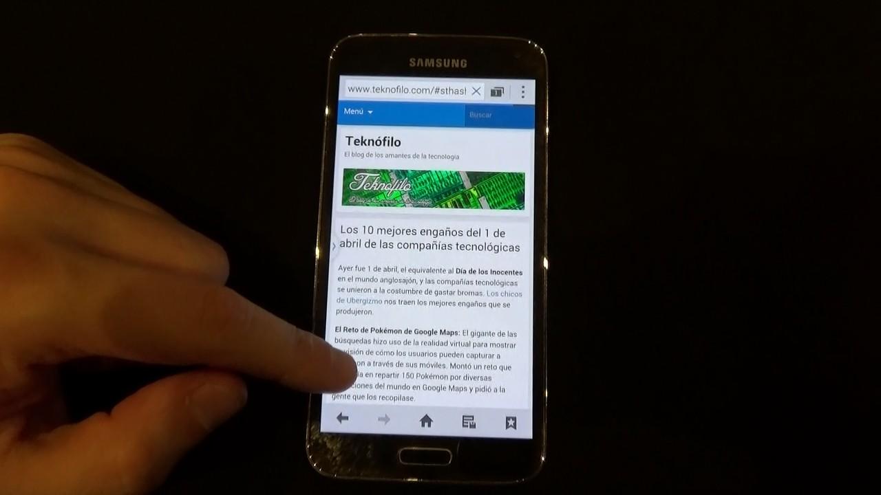 Prueba Samsung Galaxy S5