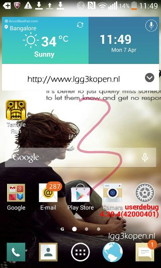 Capturas pantallas LG G3