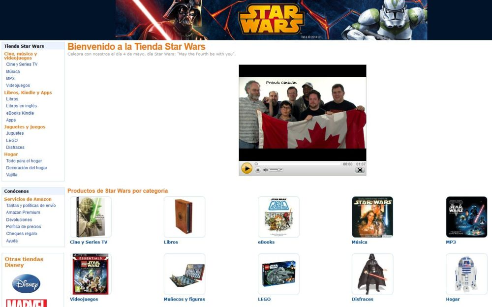 Star Wars en Amazon