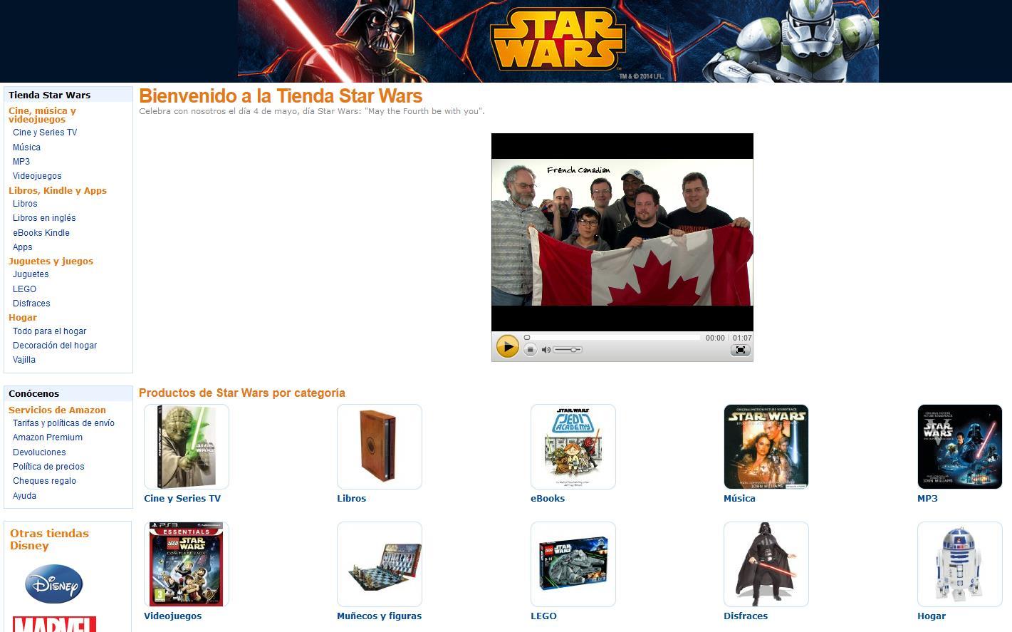 Star Wars en Amazon