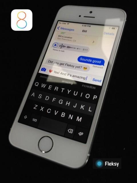 Fleksy para iOS 8