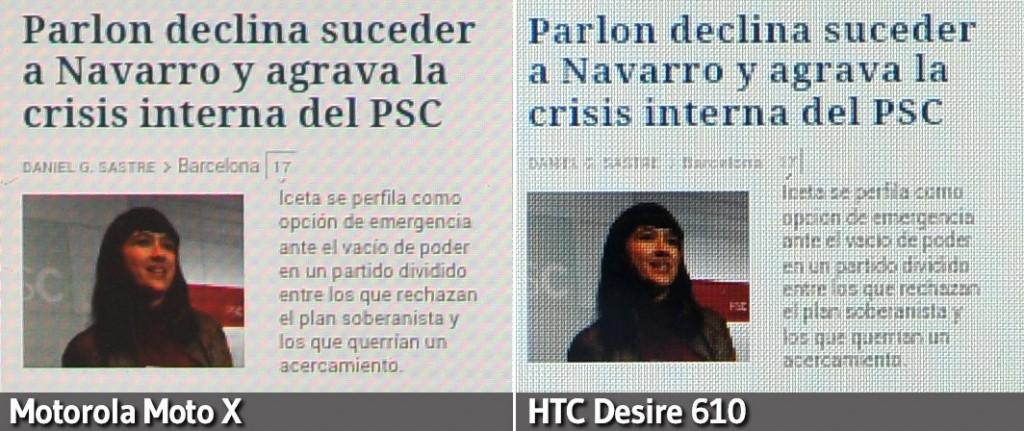 HTC Desire 610 vs Moto X