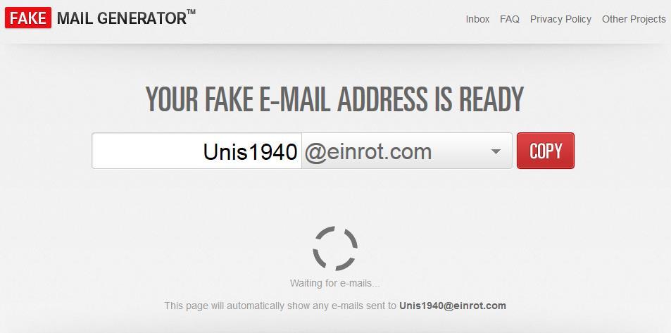 Fake Mail Generator
