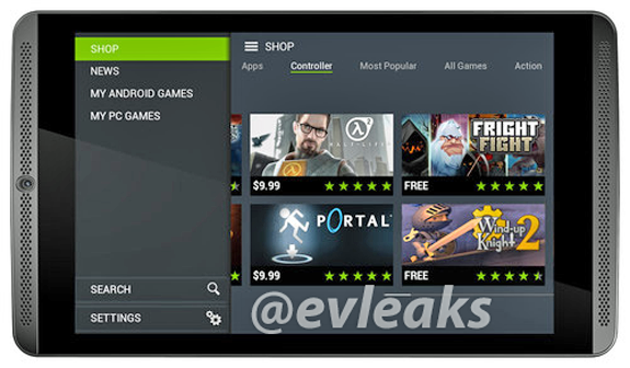 NVIDIA Shield Tab