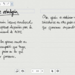 S Note - Texto manuscrito