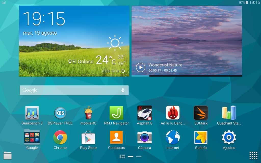 Interfaz TouchWiz