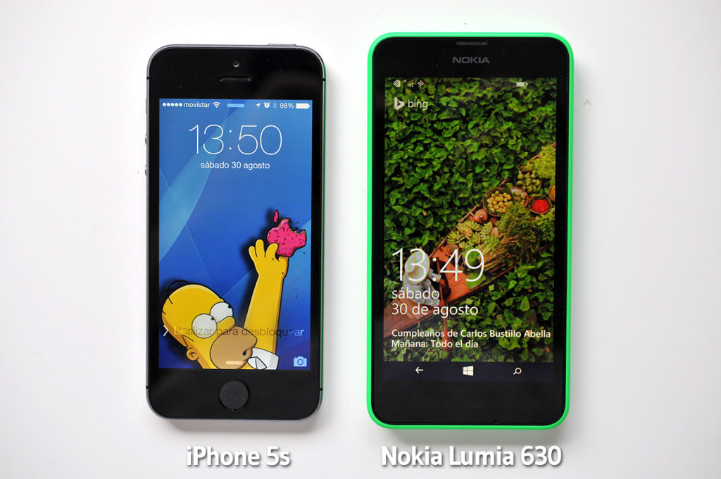Nokia Lumia 630 - iPhone 5s