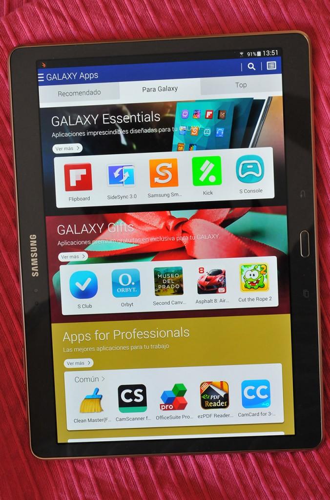 Samsung Galaxy Tab S - Galaxy Apps