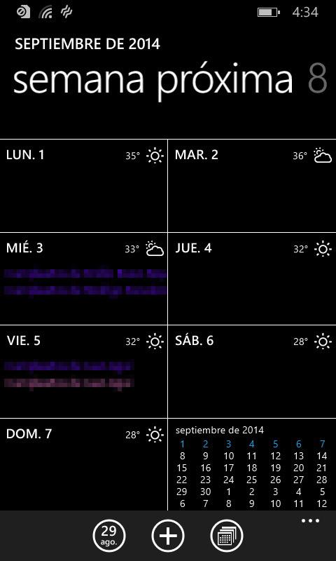 Nokia Lumia 630 - Agenda