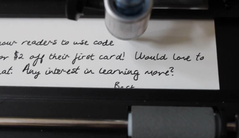 Robot que escribe