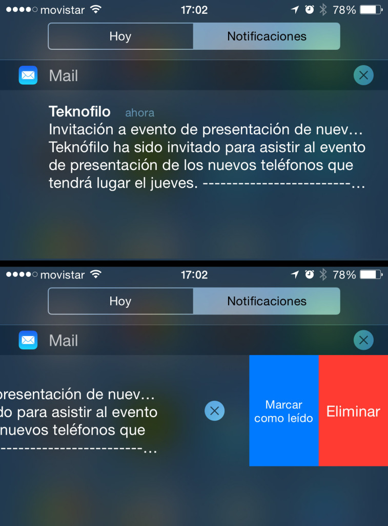 Notificaciones interactivas