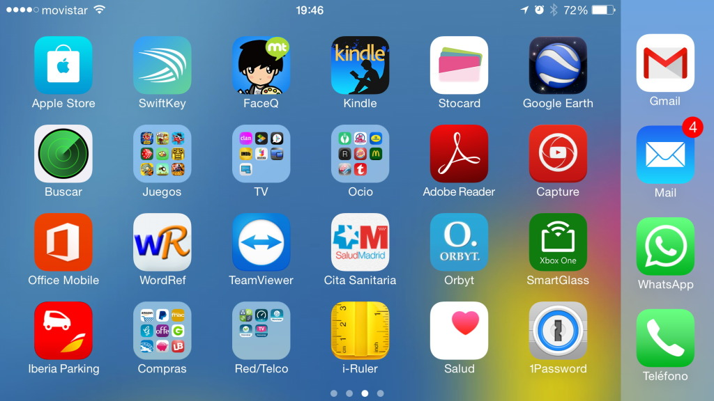 iPhone 6 Plus - Modo horizontal