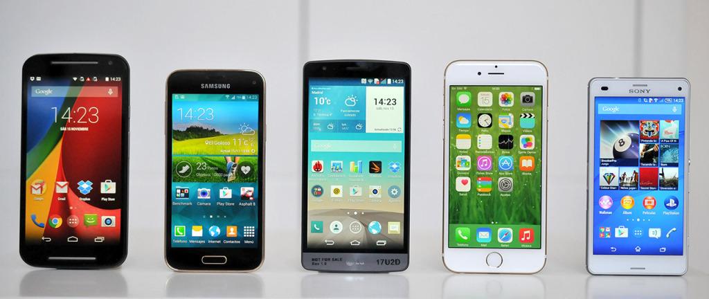 Telefonos tamano medio