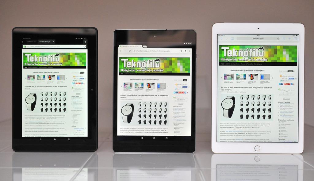 Nexus 9 - Kindle Fire HDX - iPad Air 2