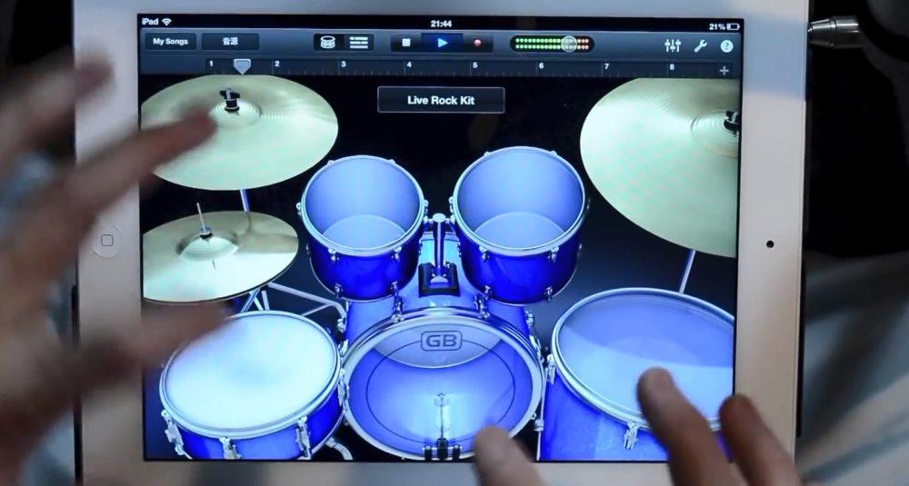 Solo de batería en iPad