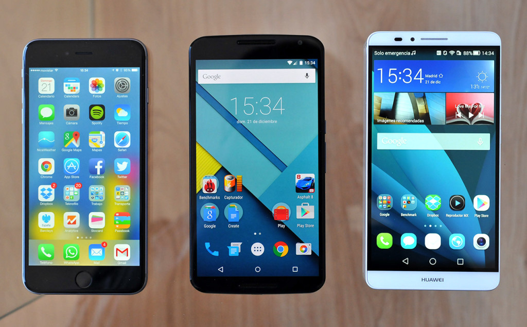 Huawei Ascend Mate7 - Nexus 6 - iPhone 6 Plus