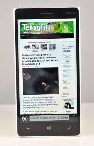 Nokia Lumia 830 - navegador