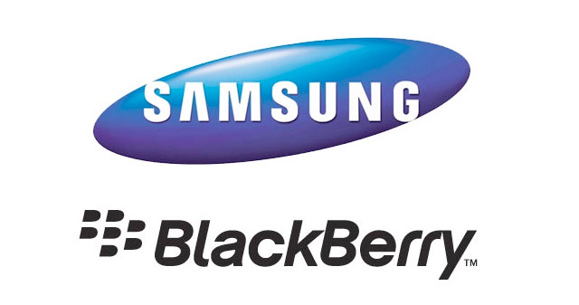 Samsung Blackberry logos