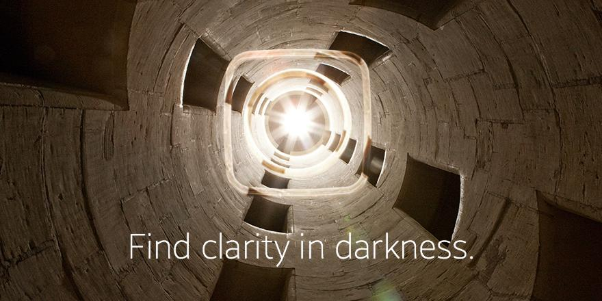 Find clarity in darkness