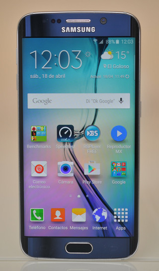 Samsung Galaxy S6 edge - frontal