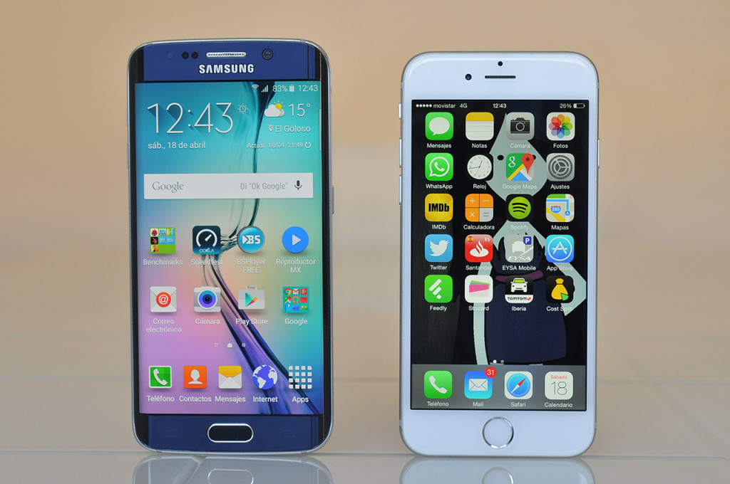 Samsung Galaxy S6 edge - iPhone 6
