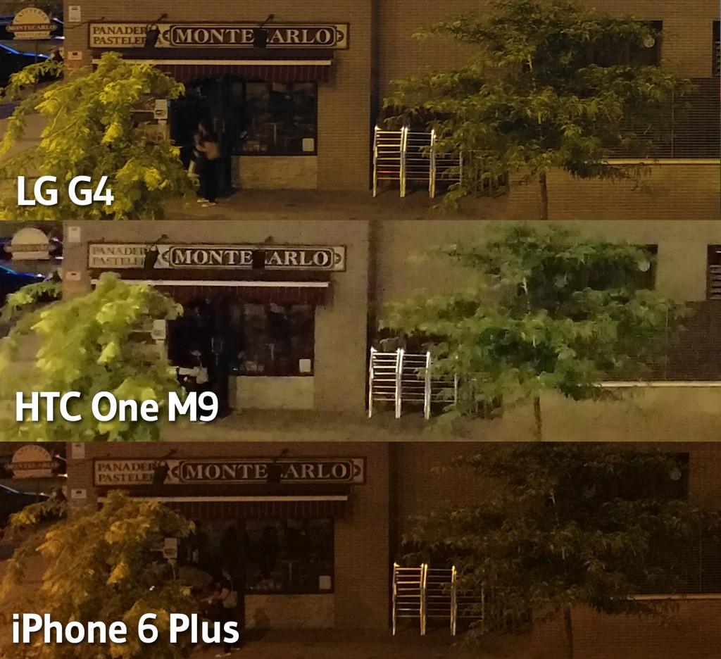HTC One M9 - LG G4 - iPhone 6 Plus - Nochejpg