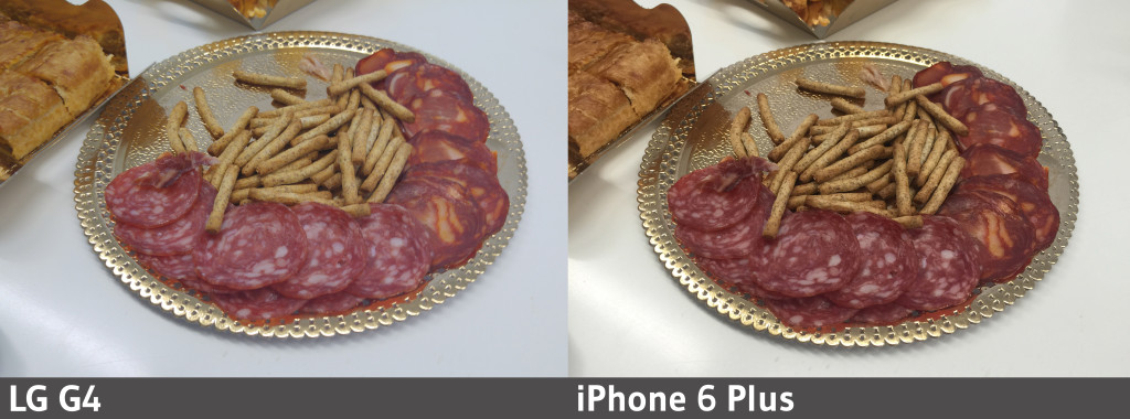 Plato de comida - LG G4 - iPhone 6 Plus