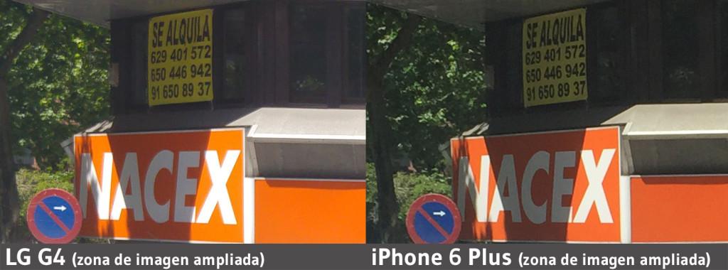 zoom de imagen - LG G4 - iPhone 6 Plus