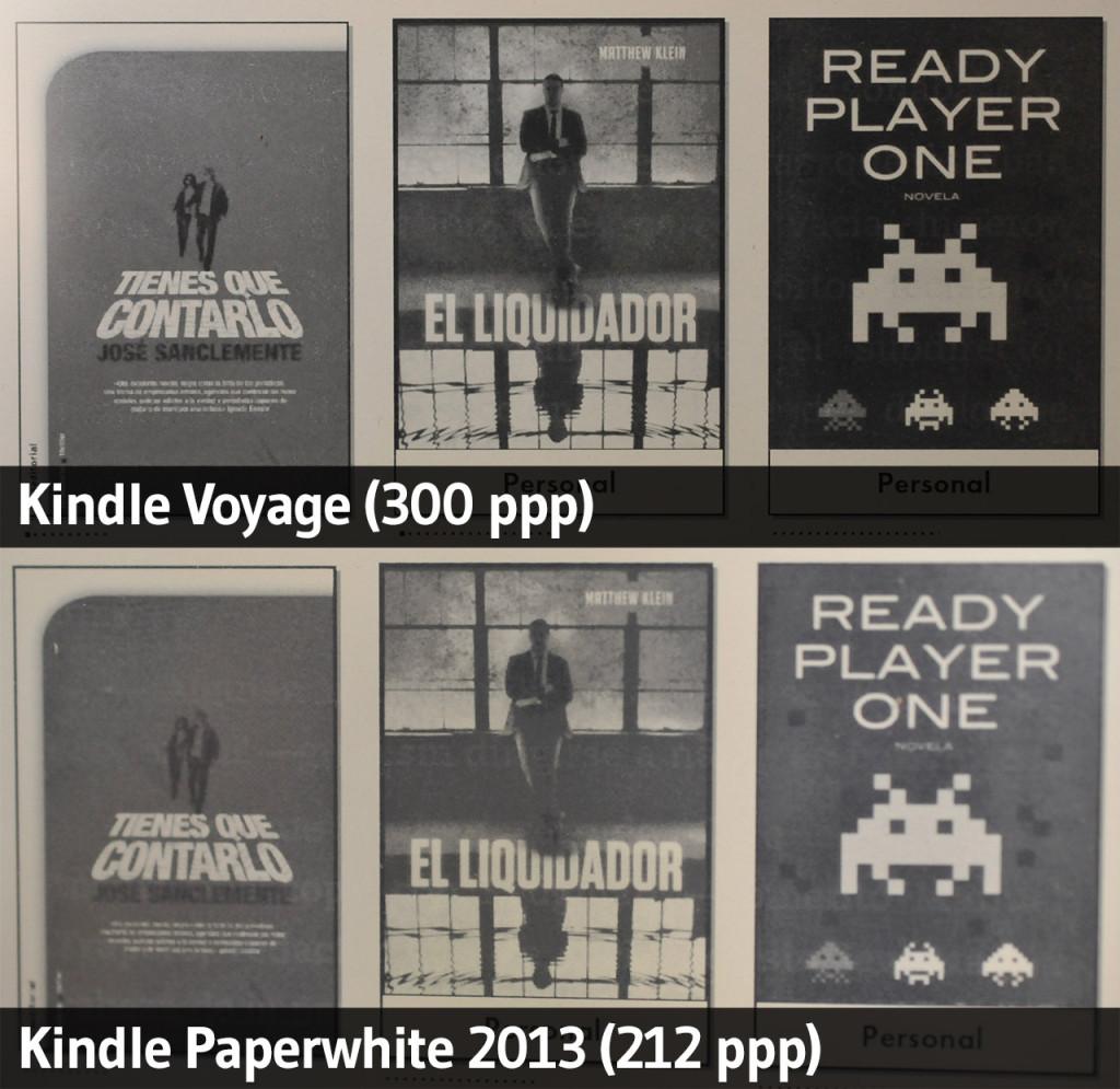 Kindle Paperwhite (2013) vs. Kindle Voyage