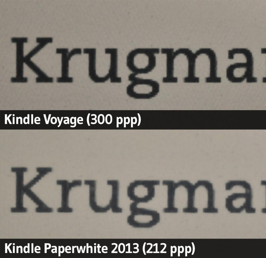 Kindle Paperwhite (2013) vs. Kindle Voyage 2