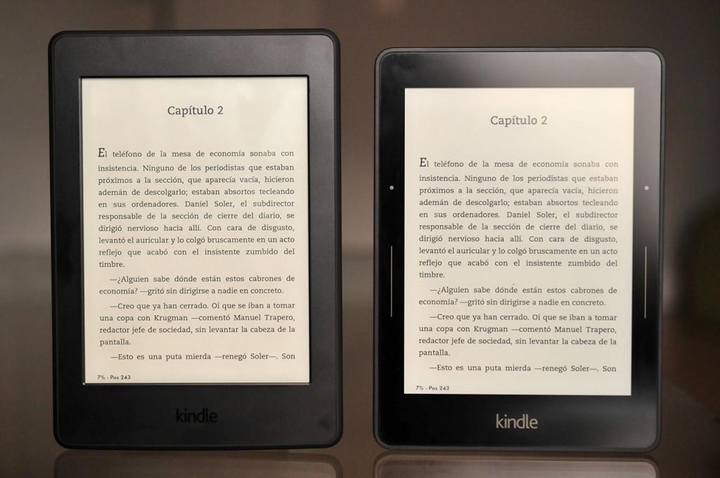 Kindle Paperwhite (2015) vs. Kindle Voyage