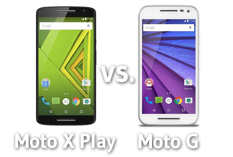 Comparativa Moto x Play vs. Moto G (3 gen)
