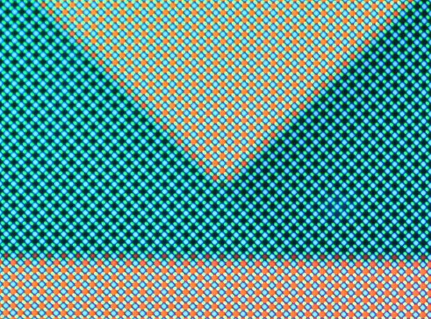 Detalle panel RGB del OnePlus 2