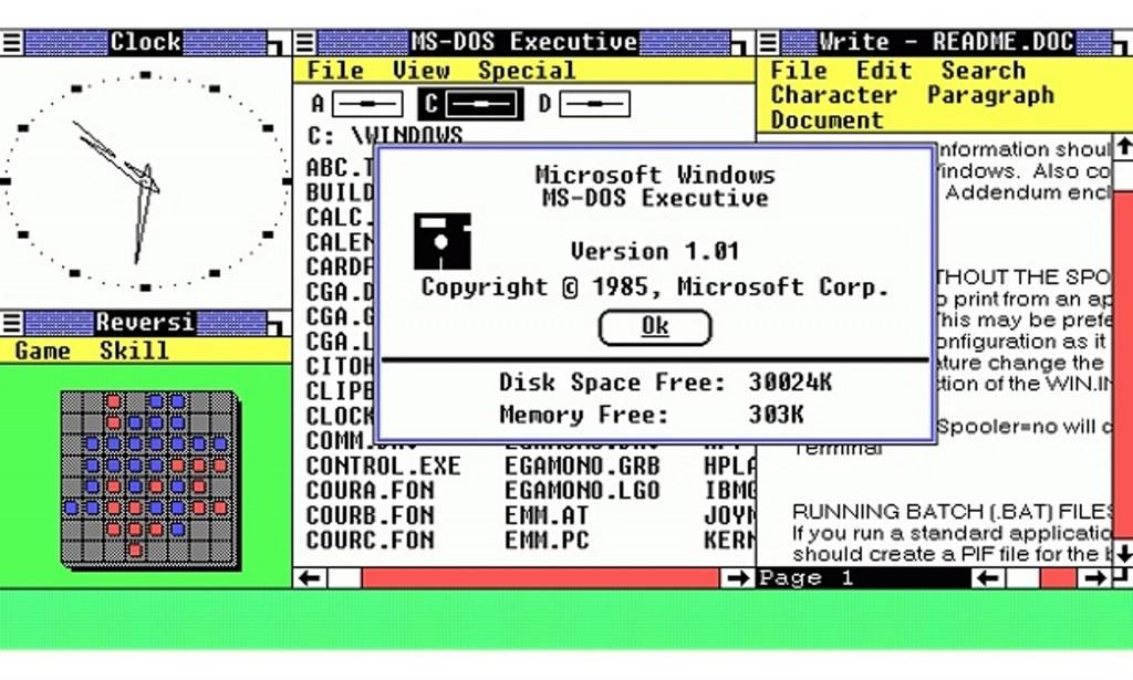 Windows 1.0 - 1