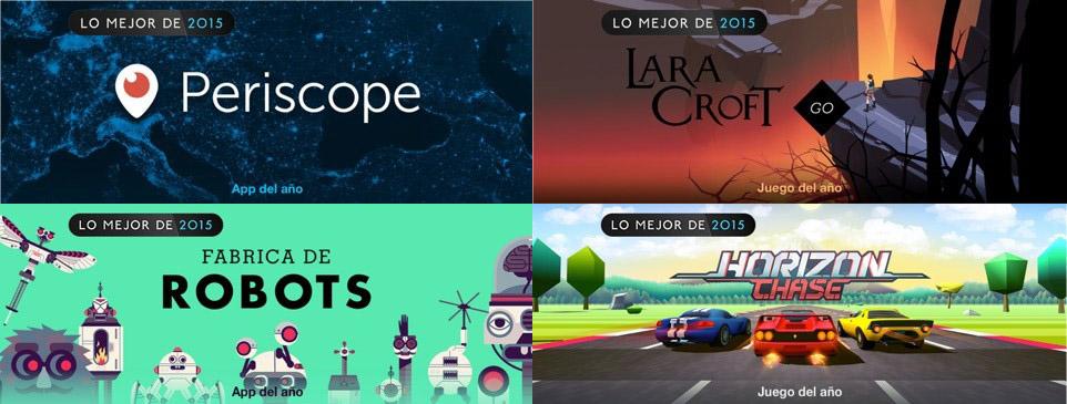mejores apps y juegos 2015