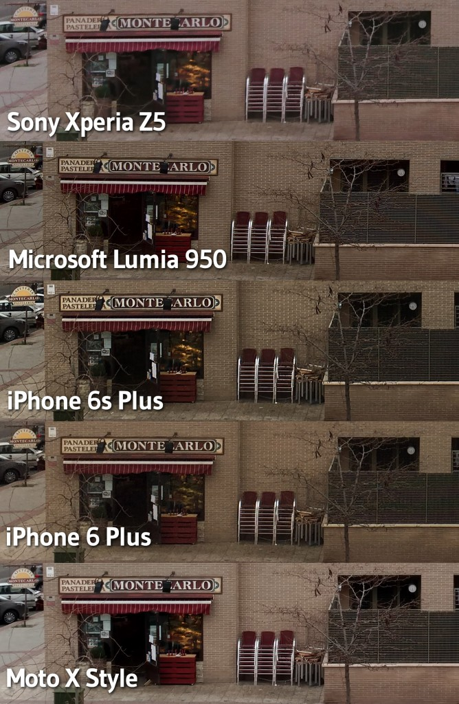 Comparativa fotos dia
