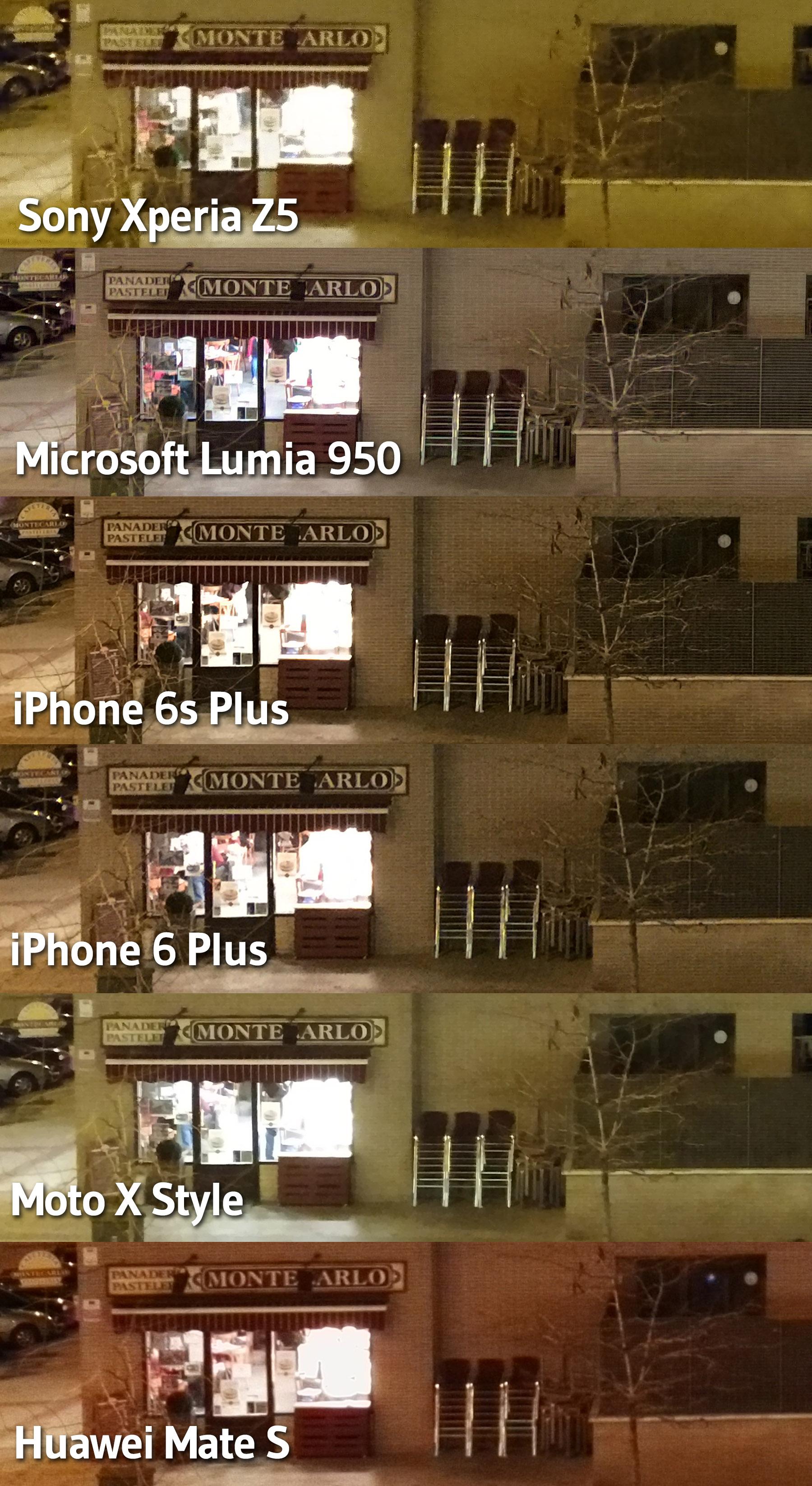 Comparativa fotos noches