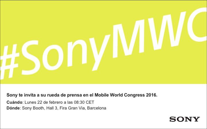 Invitación rueda de prensa Sony_ MWC16